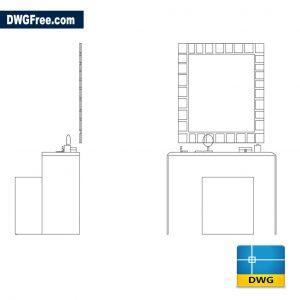 Dressing table dwg cad