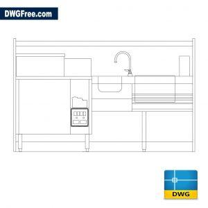 Kitchen equipment dwg cad