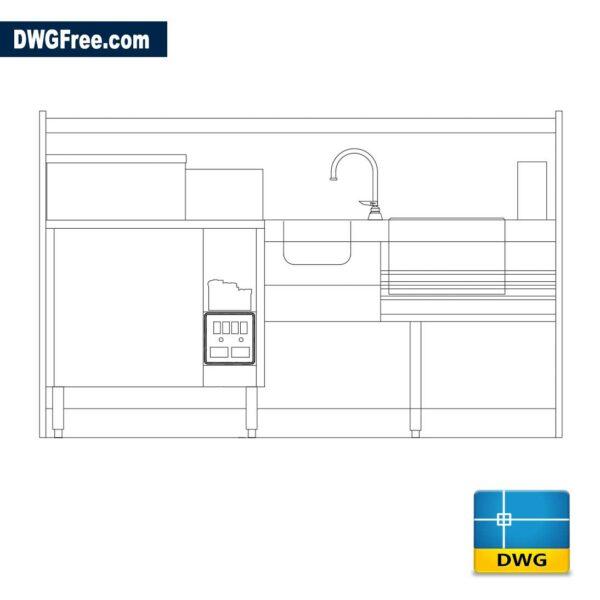 Kitchen equipment dwg cad