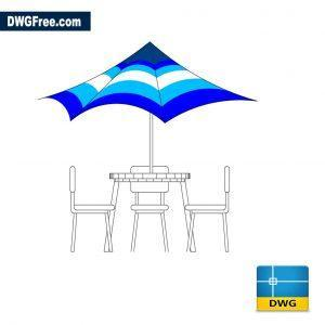 Outdoor-table-dwg-cad
