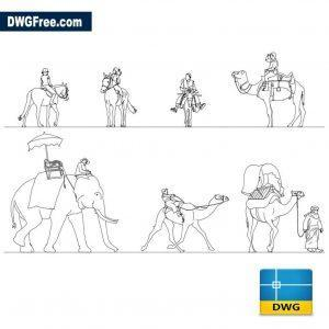 People Riders dwg cad