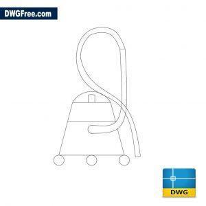 Vacuum cleaner dwg cad