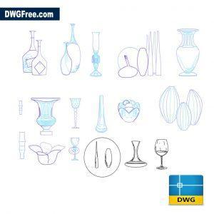 Vases dwg cad