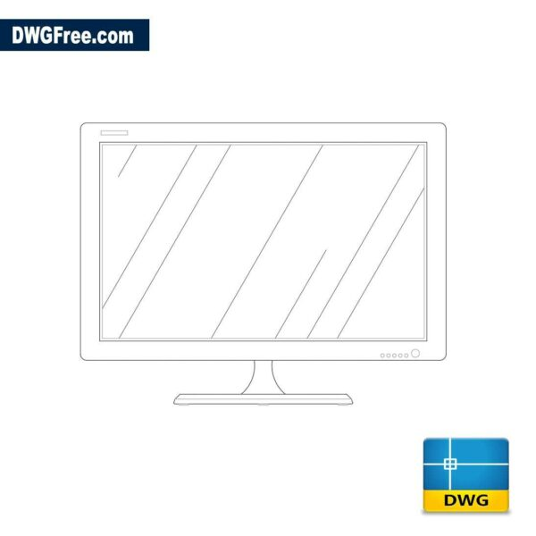 lcd monitor 2d dwg cad