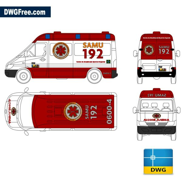 Ambulance dwg cad blocks autocad