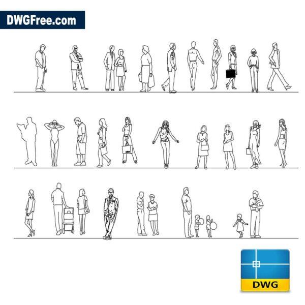 Blocks 2D People dwg