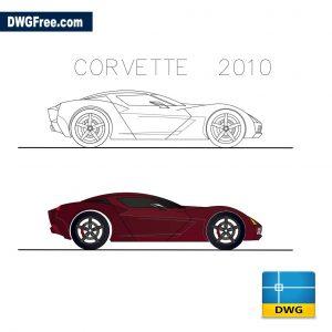 Chevrolet Corvette 2010 dwg