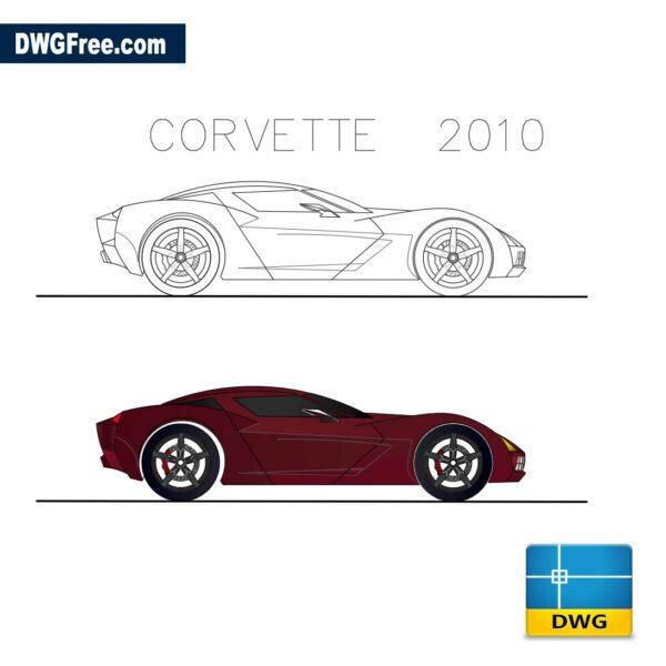 CHEVROLET-CORVETTE-2010-dwg-cad