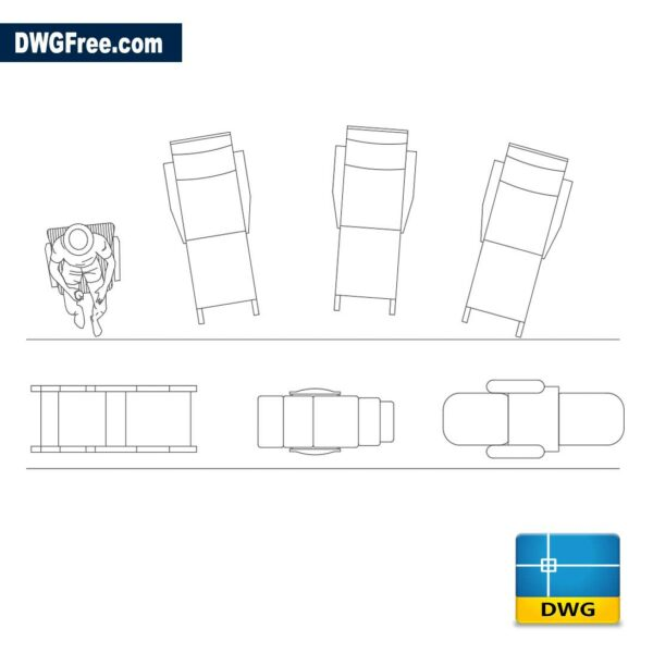 Chair for beach dwg