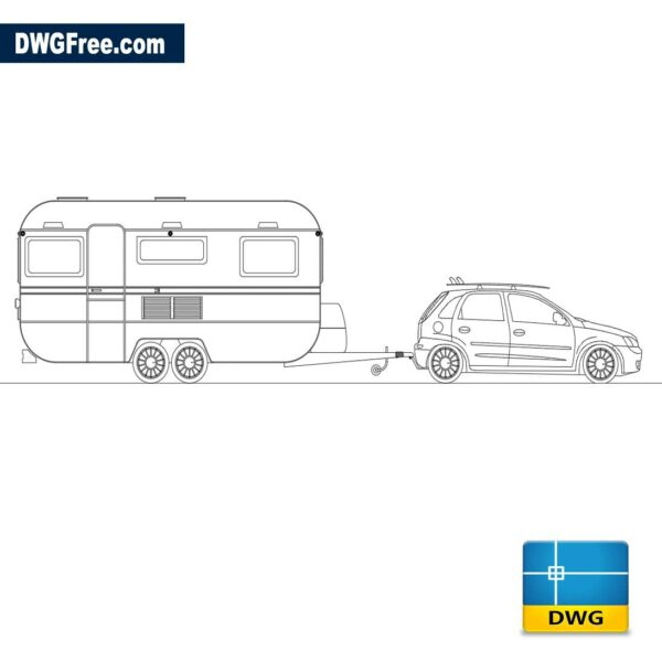 Chevrolet corsa trailer dwg cad blocks