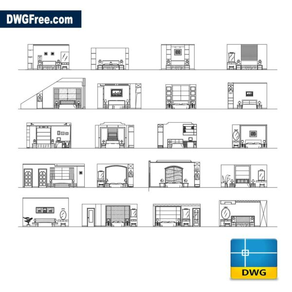 Dormitory in view dwg