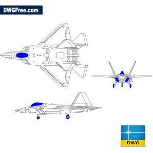 F-22 raptor hunting plane