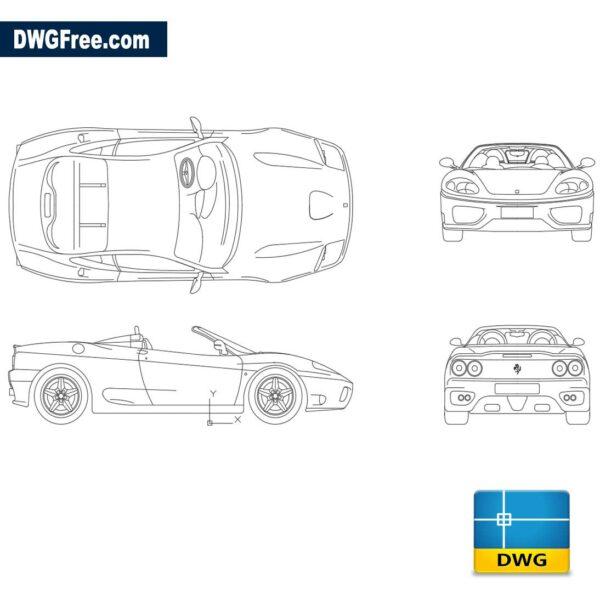 Ferrari modena dwg cad blocks autocad