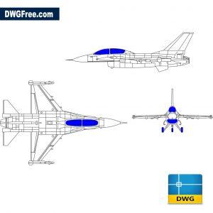Fighter plane F-16c