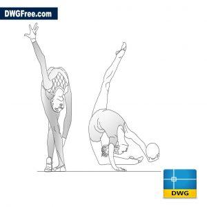 Gymnastics in rhythmic gymnastics dwg