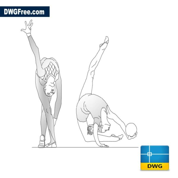 Gymnastics in rhythmic gymnastics dwg