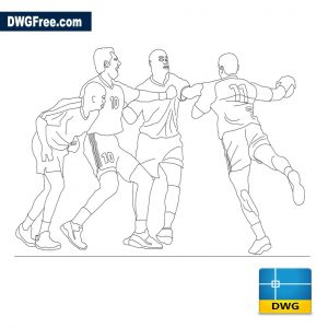 Handball players dwg
