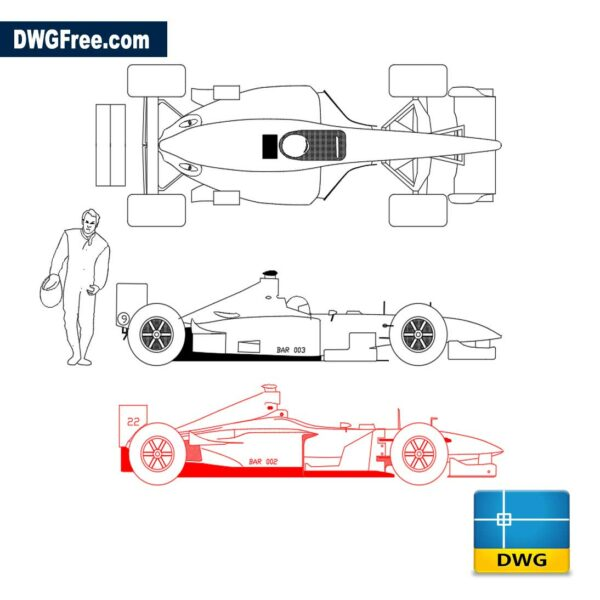 Indy Formula dwg cad blocks