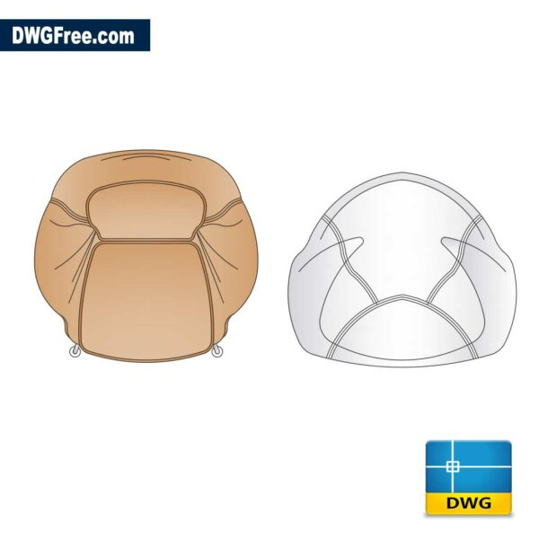 Leather-sofa-and-Puff-dwg
