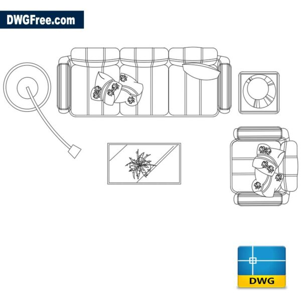 Living-room-with-sofas-dwg