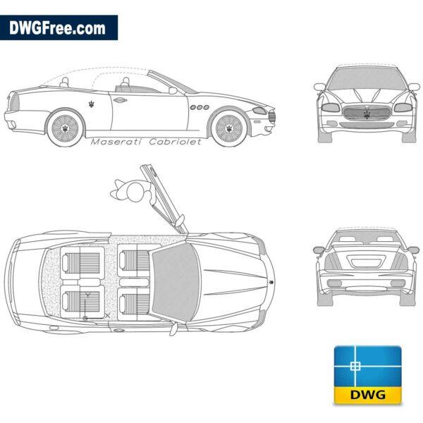 Maserati Cabriolet dwg cad blocks