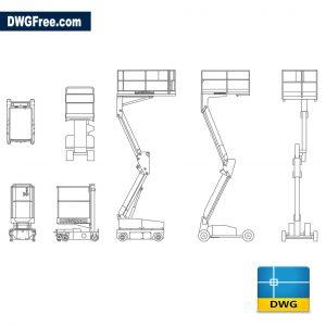 Mobile elevating platform dwg cad blocks autocad