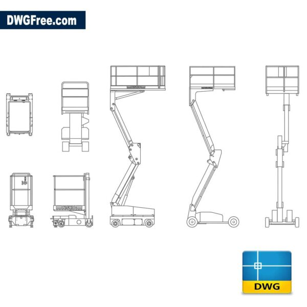 Mobile elevating platform dwg cad blocks autocad