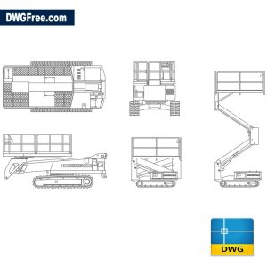 Mobile lifting platform dwg cad blocks 2d