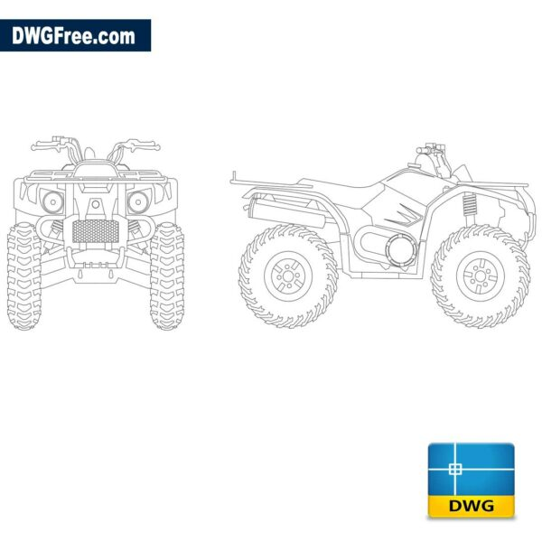 Motorcycle-Atv-4-wheel-dwg-cad-blocks-2d