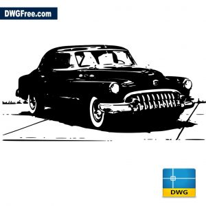 Old Car dwg cad autocad 2d