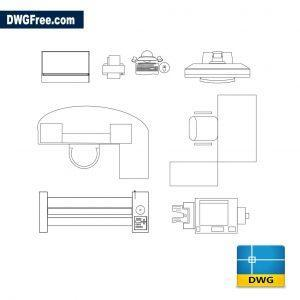 Office tables dwg cad