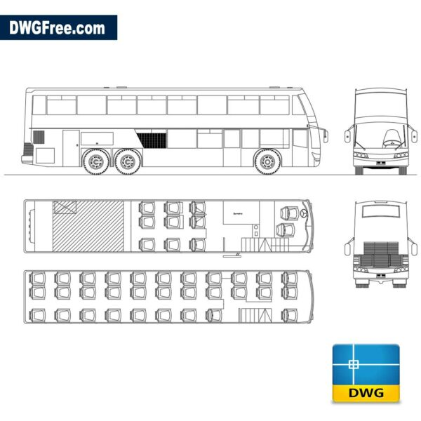 Onibus viagens dwg cad blocks 2d