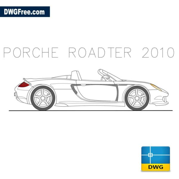 Porche Roadster 2010 dwg