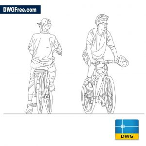People riding bikes dwg