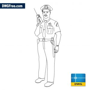Police officer in uniform dwg