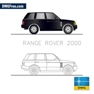 Range Rover 2000 dwg cad