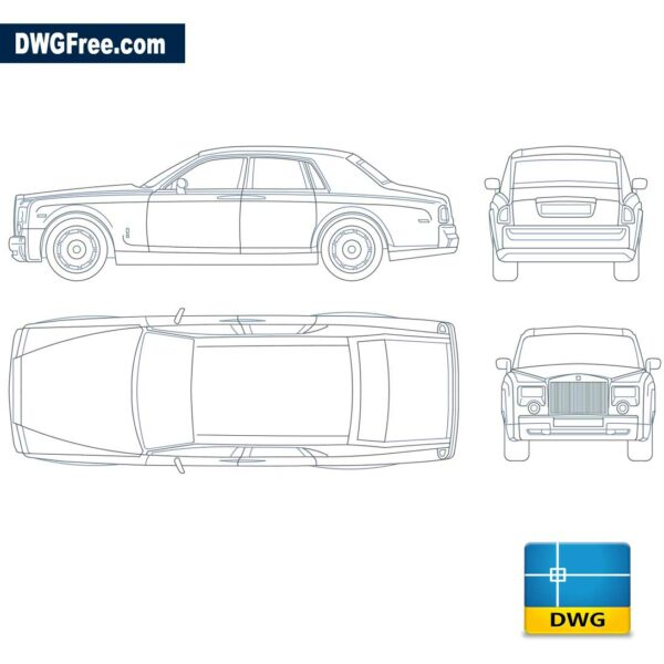 Rolls Royce Phantom dwg cad blocks 2d