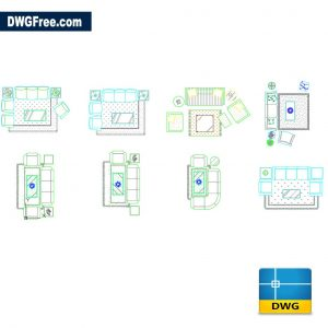 Rooms decorated dwg