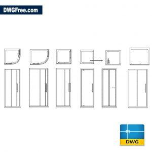 Shower cabins dwg cad autocad