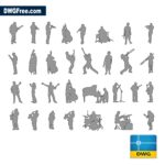 Silhouette-of-musicians-playing-dwg