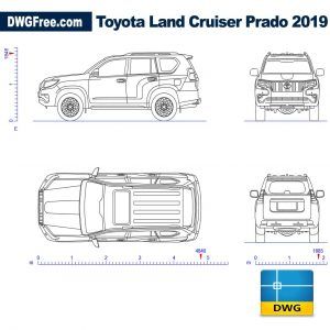 Toyota land Сruiser 2019 dwg cad