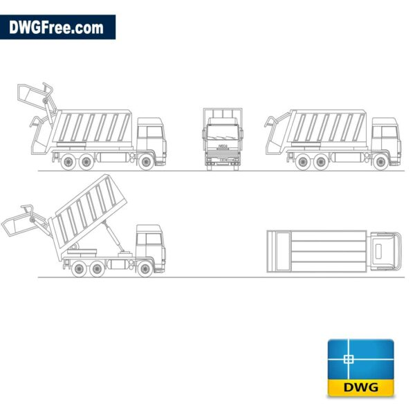 Truck-for-garbage-collection-dwg-cad-blocks-2d