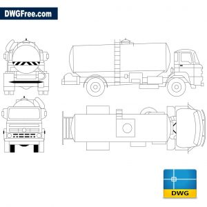 Truck tank for transportation of liquids dwg cad blocks
