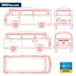 Cad blocks Volkswagen Kombi - Dwgfree.com Download