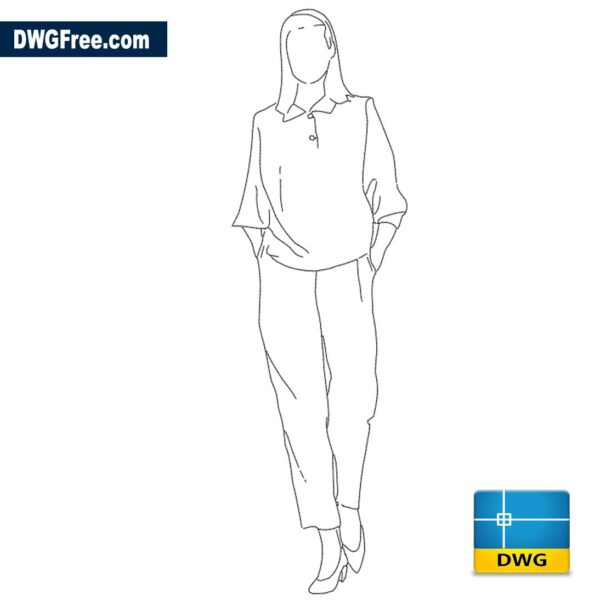 Woman walking forward dwg
