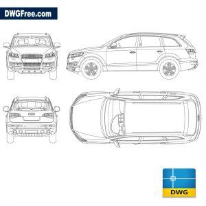 Audi Q7 dwg cad autocad