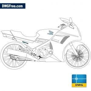 Honda CBR 750 dwg cad blocks 2d
