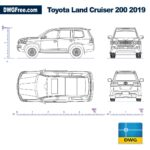 Toyota Land Cruiser 200 2019 dwg autocad