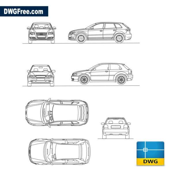 Audi A3 dwg