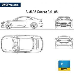 Audi A5 Quattro 3.0 2008 dwg